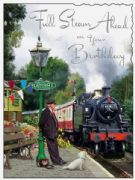 Full Steam Ahead Birthday Card